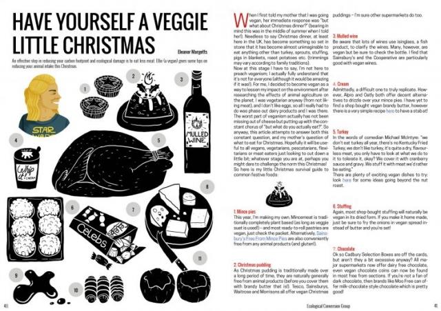 vegetarian and vegan christmas menu