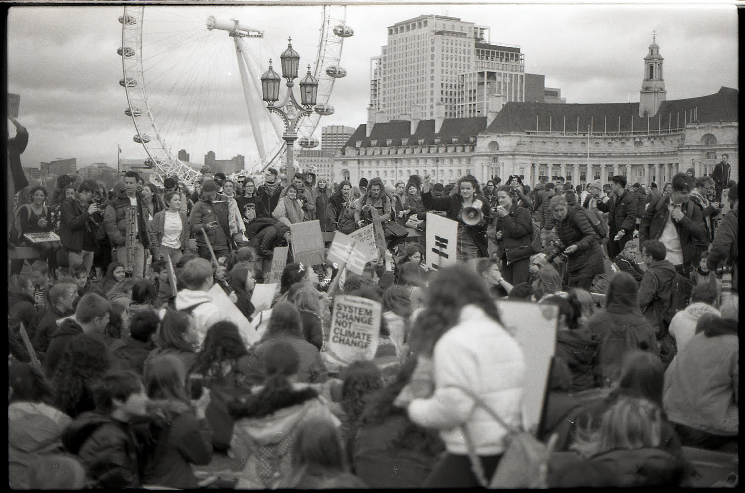 An image of a crowd of protestors in london