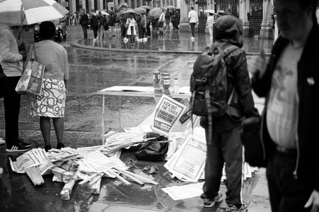an image of socialist worker banners