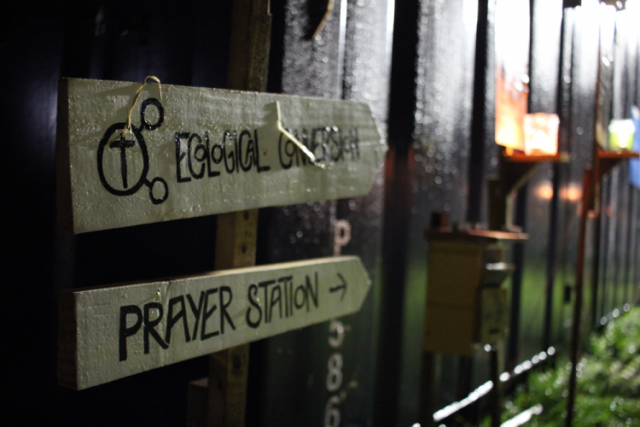 a photo of ecological conversion prayer station