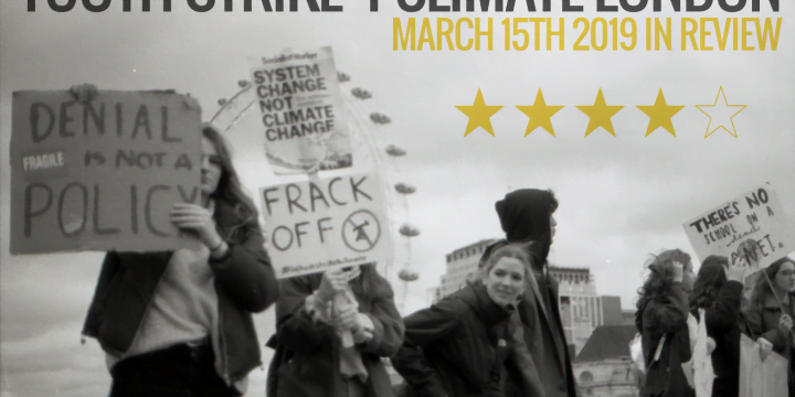 title image showing youth standing on westminster bridge protesting youth strike 4 climate london