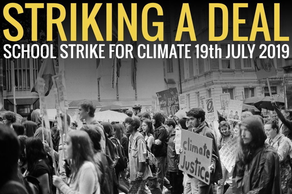 Stiking a deal: School strike for climate 19th July 2019